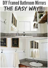 Framing Bathroom Mirrors Diy - diy framed bathroom mirrors liz marie blog