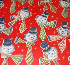 vintage christmas wrapping paper rolls vintage wrapping paper christmas snowmen roll 24 wide ebay