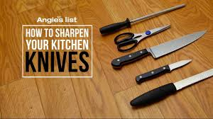 how to sharpen your kitchen knives youtube