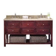 OVE Decors Danny Inch Double Sink Bathroom Vanity Granite Top - Bathroom vanities solid wood construction