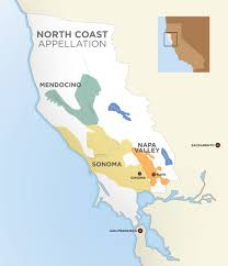 Map Of Napa Valley Custard Comfort Wine