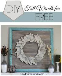 diy fall wreath for free