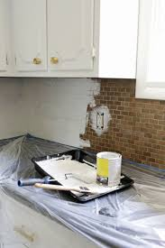 How To Paint A Tile Backsplash  A Beautiful Mess - Painted tile backsplash