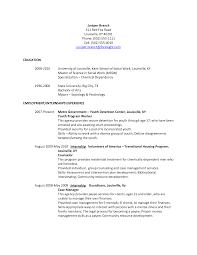 Social Work Resume Social Worker Resumes Social Service Worker Resume Sample