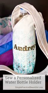a personalized water bottle holder and a blog hop simple