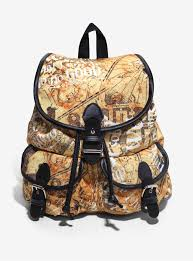 Harry Potter Marauders Map Harry Potter Marauder U0027s Map Slouch Backpack Boxlunch