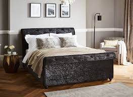 ellen black crushed velvet bed frame dreams