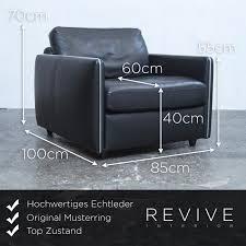 Musterring Esszimmer Sessel Musterring Designer Sofa Garnitur Schwarz Leder Sessel Zweisitzer