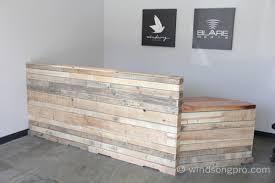 Concrete Reception Desk Stunning Reclaimed Wood Reception Desk Reclaimed Oak Reception