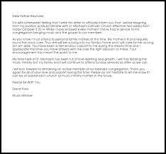church resignation letter resignation letters livecareer