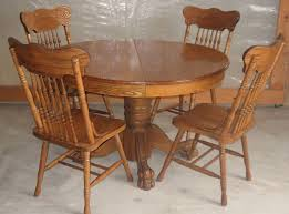 round oak kitchen table awesome amazing amish rockord double pedestal dining table inside