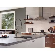 brizo kitchen faucets d63225lfpc artesso pull out spray kitchen faucet chrome at the