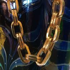 large gold link necklace images 14 karat yellow gold large open link necklace robert and gabriel jpg