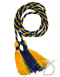 graduation chords navy gold intertwined honor cords for high school homeschool