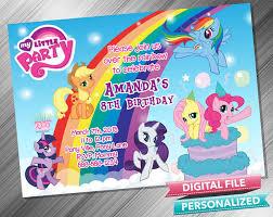 invitations my little pony ideas free printable my little pony