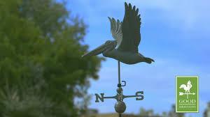 Nautical Weathervane Pelican Weathervane Blue Verde