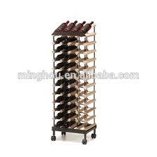 48 bottles wine storage racks adjustable wine rack with wheels
