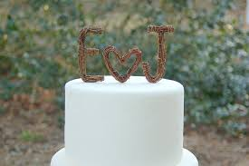 rustic monogram cake topper to incorporate a custom wedding monogram etsy weddings rustic cake