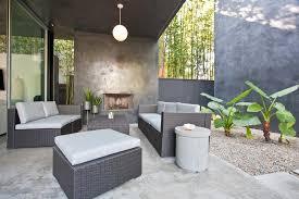 concrete outdoor column patio contemporary with concrete siding