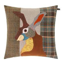 Stag Cushions Buy Carola Van Brown Hare Cushion 50x50cm Amara