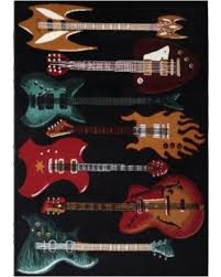 Guitar Area Rug Amazing Deal On Modern Guitars Area Rug 5 X7