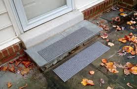 waterhog stair treads in a square pattern by waterhog floor mats