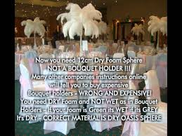 how to make ostrich feather wedding table centerpieces youtube