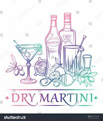 martini olives clipart cocktail dry martini ingredients gin dry stock vector 279373565