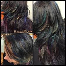 how long does hair ombre last who said that brunettes can t have colorful hair oil slick