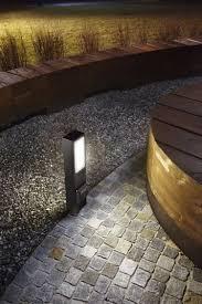 garden bollard light contemporary cast aluminum concrete