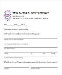 Dj Resume Dj Contract Entertainment Contracts Templates Printable Dj