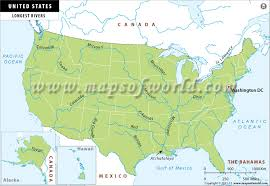 worlds rivers map rivers in usa
