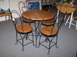 ice cream parlor table and chairs set antique ice cream parlor table and chairs nashgrad