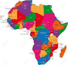 World Maps With Countries by Colorful Africa Map With Countries And Capital Cities Royalty Free