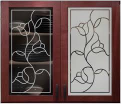 lead glass door inserts roses faux leaded cabinet glass sans soucie art glass