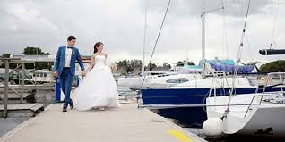 wedding on a boat weddings sailing charter in the florida wedding boat