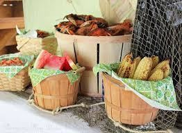cajun party supplies crab feast birthday party ideas photo 3 of 8 catch my party