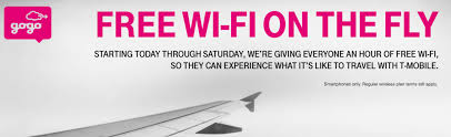 Gogo Inflight Texting by Traveling This Holiday Weekend T Mobile Gives 1 Free Hour Of Gogo