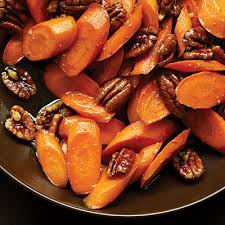 23 great thanksgiving vegetable dishes glazed carrots pecans and
