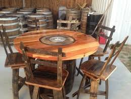 Wine Barrel Fire Pit Table by Wyld At Heart Customs Fire Features