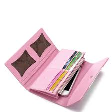 assorted colors lady wallet pink