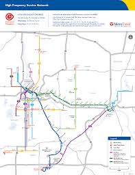 Portland Public Transportation Map by High Frequency Network Map Metro Transit