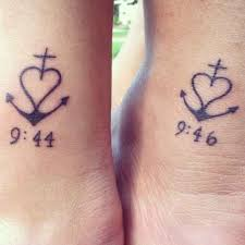 really like the anchor tattoos matching tattoos