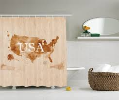 Country Bathroom Shower Curtains Early American Retro Map Of The Country Southwest And Alaska Image