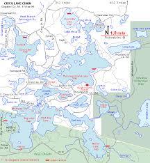map of michigan lakes cisco chain of lakes map gogebic county michigan fishing michigan