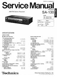technics sa 130 service manual download schematics eeprom