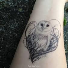 owl temporary tattoo owl tattoo barn owl temporary