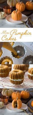 the cutest mini pumpkin cakes click for the recipe