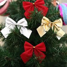 12pcs pack pretty bow ornament tree decoration