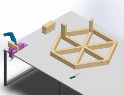 Design For Octagon Picnic Table by How To Build A Hexagon Picnic Table With Pictures Wikihow